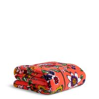Vera Bradley Throw Blanket Coral Floral