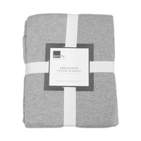 Dormify Jay Jersey 50X60  Gray and White Decorative Throw