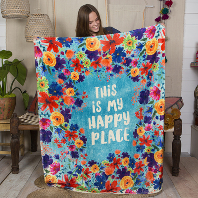 Natural Life Cozy Blanket Happy Place