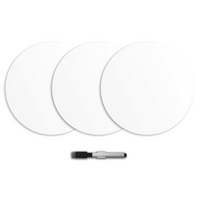 WallPops Dry Erase Dot Decals, Ghost (3 pack)