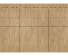 WallPops Hardwood Monthly Dry Erase Calendar Decal