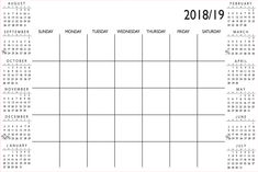 WallPops 36in by 24in White Academic Calendar 201819