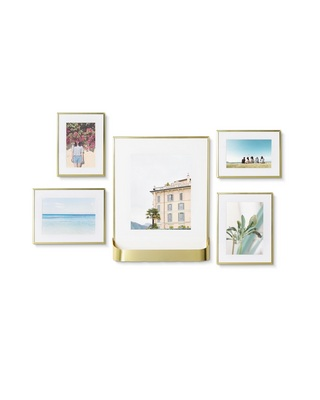 Umbra Matinee Gallery Picture Frame 5 Pack Set, 4x6, 5x7, 8x10