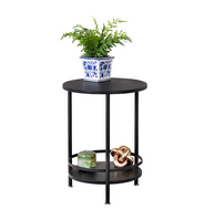 Honey Can Do 2 Tier Round Side Table