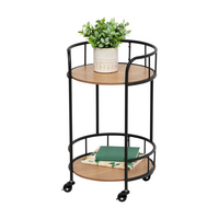 Honey Can Do 2 Tier Rolling Side Table