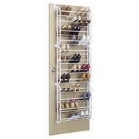 Whitmor Over the Door 36 Pair Shoe Rack in White