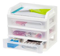 Desktop Drawers 7x9x8, 3 Drawers, White