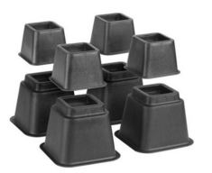 Bed Risers(Adjustable)  Black