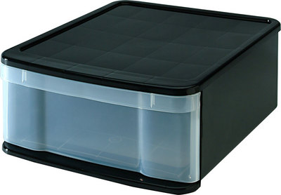 Iris Large Stacking Drawer, Black