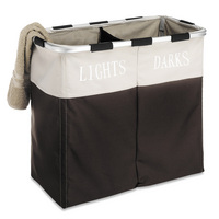 Whitmor Easy Care Double Laundry Hamper in Espresso