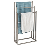 Honey Can Do Bamboo Wicker Laundry Hamper with Removable Canvas Bag
