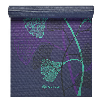 Gaiam Premium Printed Yoga Mat, 6mm, Lily Shadows