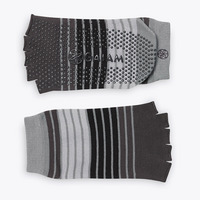 Toeless Yoga Socks, GreyBlack
