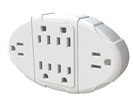 Stanley 6 Way Transformer Tap with Grounded Wall Adapter