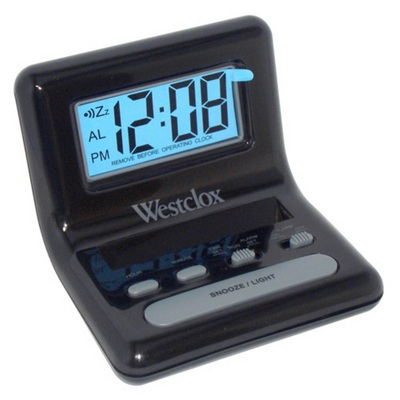 Westclox Black Bedside Digital Alarm Clock