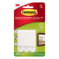 3M Command Medium Picture Hanging Strips 6Pack