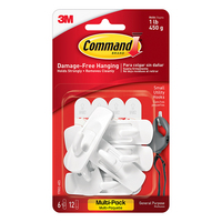 3M Command Adhesive 6 Pack Small Hooks