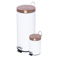 Honey Can Do 30L & 3L Trash Can Combo Rose Gold