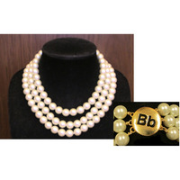 Barbara Bush ThreeRow Pearl Necklace by Kenneth Jay Lane