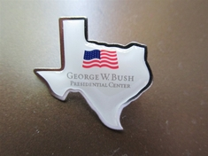 George W. Bush Presidential Center Texas Shaped Pin