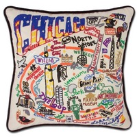 Chicago Hand Embroidered Pillow