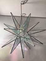 Large Iridized 18 PT Tree Topper