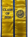 Class of 2020 Gold GraduationSash