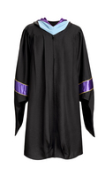 Masters Graduation Gown, Black