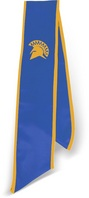 Graduation Stole  SJSU Blue includes spartan logo and year