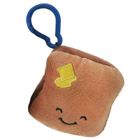 Squishable Micro Comfort Food Toast Backpack Clip