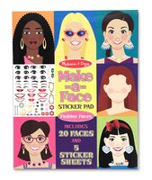 Melissa and Doug MakeaFace Fashion Faces Sticker Pad