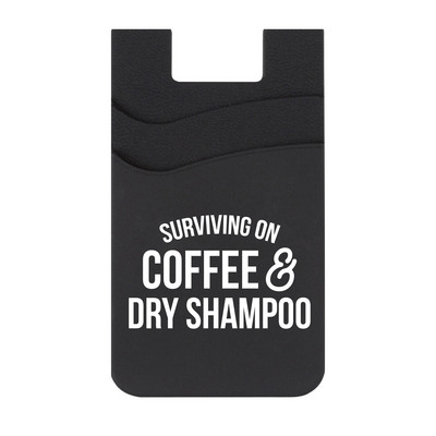 Rubys Rubbish Surviving on Coffee & Dry Shampoo Silicone ID Holder