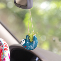 Natural Life Mini Hanging Succulent Sloth Happy