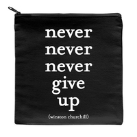 never give up pouch