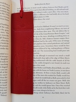 Mrs. Bush Leather Bookmark