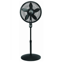 Lasko 18 Remote Control Cyclone Pedestal Fan in Black