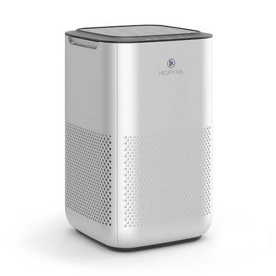 Medify MA 15 Air Purifier with H13 True HEPA Filter 99.9% Removal 330 sq ft Coverage Silver