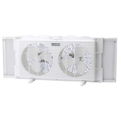7 inch Twin Window Fan, 2 Speed