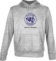 Spectrum Womens Swimming Youth Unisex Distressed Pullover Hoodie