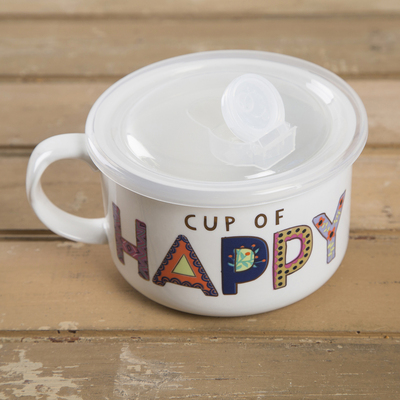 Georgetown University Bookstore - Natural Life Soup Mug Cup of Happy