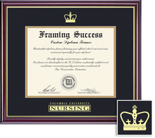 Columbia Presbyterian Medical Center Nursing Diploma with Black and Gold Double Mat in Windsor