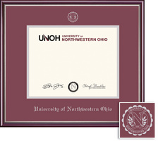Diploma with Maroon and Silver Double Mat in Scholastic