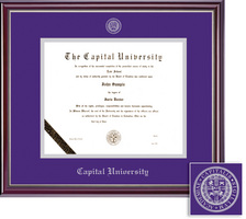 Framing Success Jefferson Diploma Frame High Gloss Cherry Finish with Silver Inner Bevel