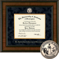 Church Hill Classics Presidential Diploma Frame. Dual Degree.