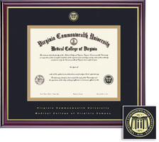 Framing Success Windsor DDS Diploma Frame, in Gloss Cherry Finish, Gold Trim