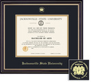 Framing Success Diploma Frame, Black & Gold Mat in a Satin Black Finish with Beautiful Gold Accents