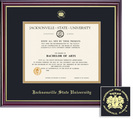 Framing Success Diploma Frame, Black & Gold Mat in a High Gloss Cherry Finish with Gold Inner Bevel