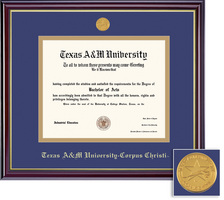 Framing Success Windsor PhD Diploma Frame in Gloss Cherry Finish and Gold Trim