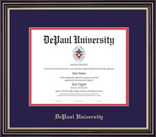 Framing Success Prestige Diploma Frame Dbl Matted, Satin Black Finish, Gold Trim. Bachelors, Masters