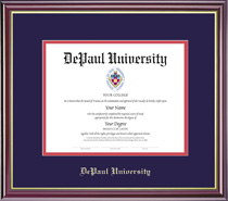 Framing Success Windsor Diploma Frame in Gloss Cherry Finish and Gold Trim. PhD, Law